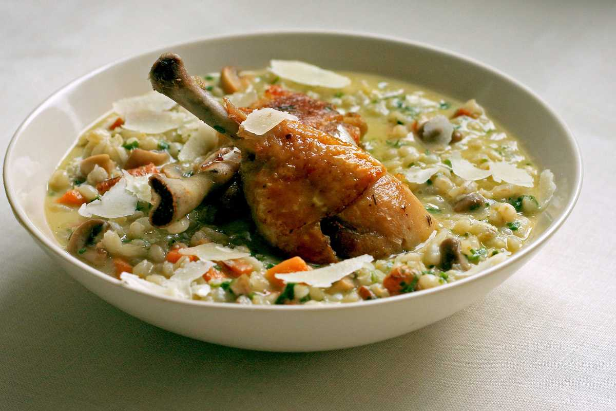 Barley Risotto with Chicken Image