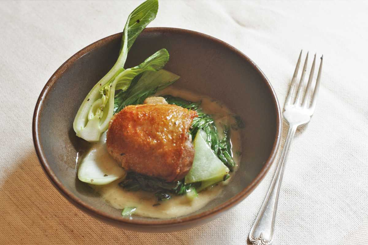 Chicken Confit with Lemon Dressing Image