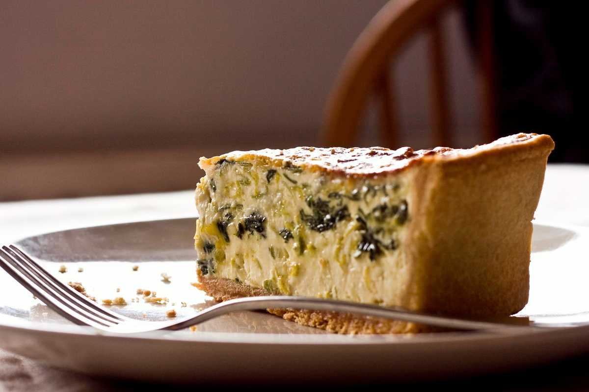 Leek and Roquefort Quiche Image